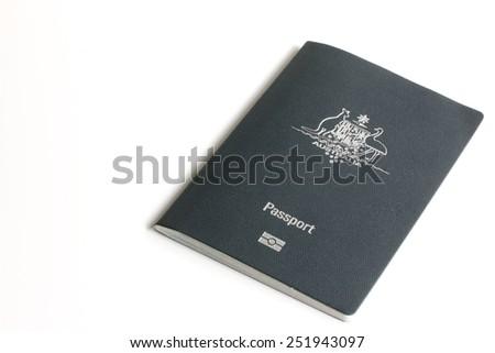 Australian Passport - stock photo