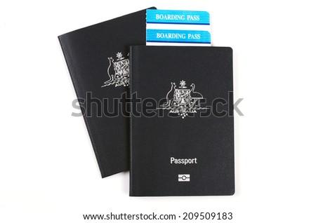 australian passports - stock photo
