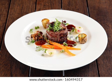 Australian premium fillet tenderloin steak. - stock photo