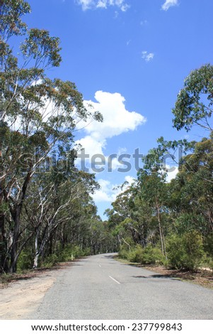 australian road - stock photo