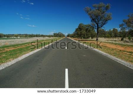 Australian Rural Road - stock photo
