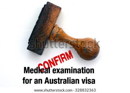Australian visa - stock photo
