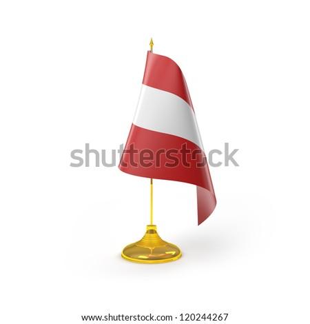 Austria Flag Detail Render - stock photo