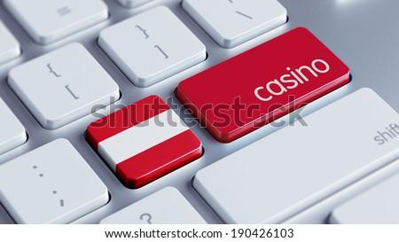 Austria High Resolution Casino Concept - stock photo