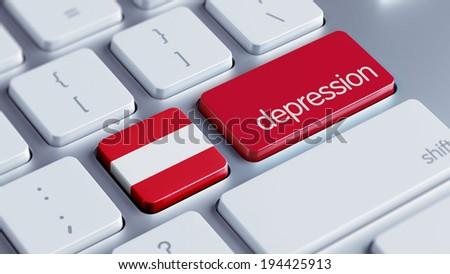 Austria High Resolution Depression Concept - stock photo