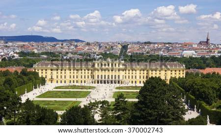 Austria. Schoenbrunn Palace in Vienna - stock photo