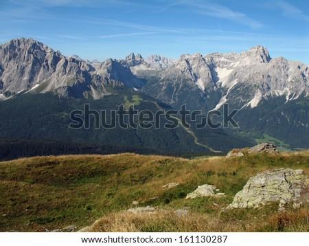 Austrian Alps, Italian Alps, Carnic Alps - stock photo