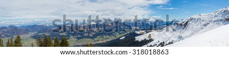 Austrian Alps near Kitzbuehel - stock photo