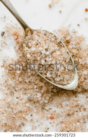 Austrian rock Salt - Bergkern Salt - stock photo