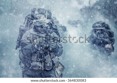 Austrian special forces - stock photo