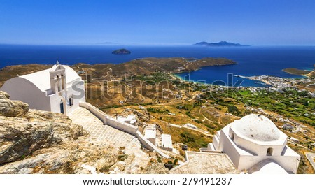 authentic Greece- Serifos island, Cyclades - stock photo