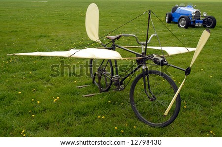 Authentic plane famous Czech flyer Jan Tleskac - stock photo