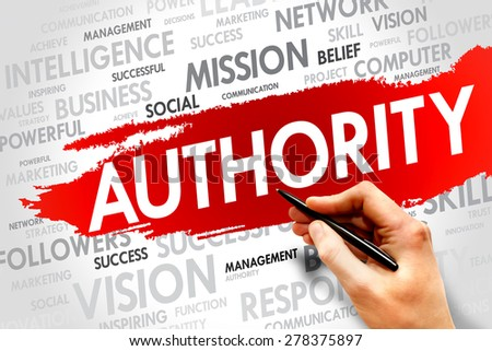 AUTHORITY word cloud, business concept - stock photo