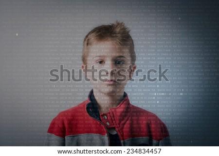 autistic genius - stock photo