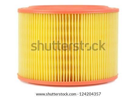 Auto air filter isolated on a white background - stock photo