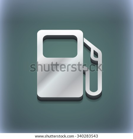 Auto gas station icon symbol. 3D style. Trendy, modern design with space for your text illustration. Raster version - stock photo