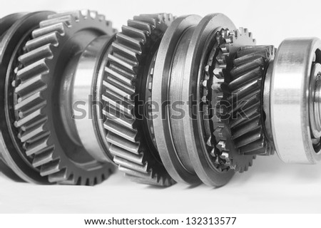 auto gear on isolated background - stock photo