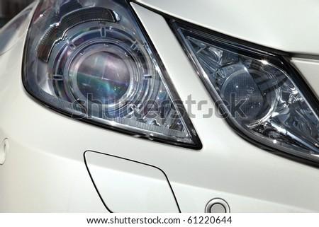 auto parts, front headlights - stock photo