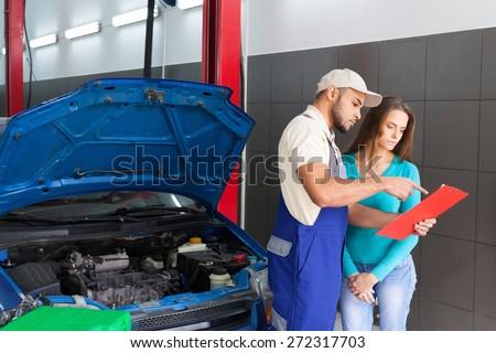 Auto Repair Shop, Car, Mechanic. - stock photo