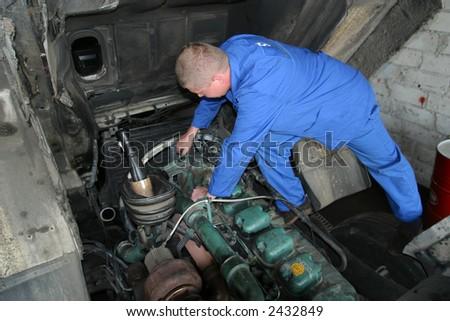 Auto service - stock photo