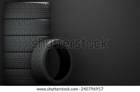 auto tires - stock photo