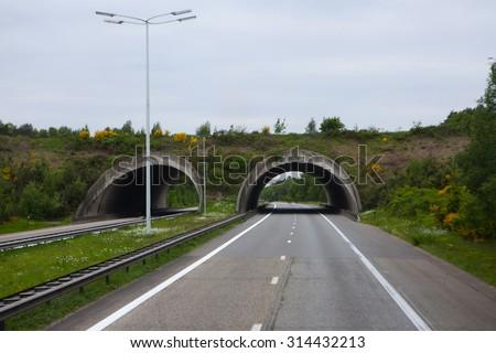 Autobahn in Germany - stock photo