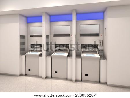 Automated teller machine - stock photo