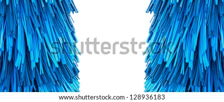automatic car wash brushes (shallow DOF) - stock photo