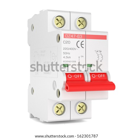 Automatic electricity switch - stock photo