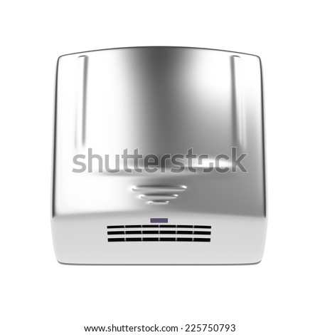Automatic hand dryer isolated on white background  - stock photo