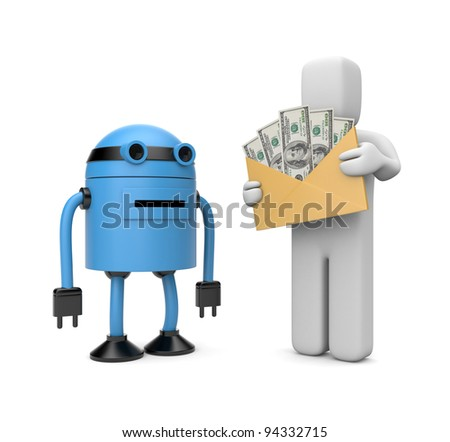 Automatic payment. Image contain the clipping path - stock photo