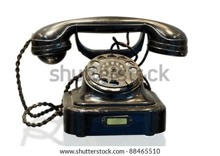 Automatic telephone exchange system desktop phone, model W 28 - stock photo