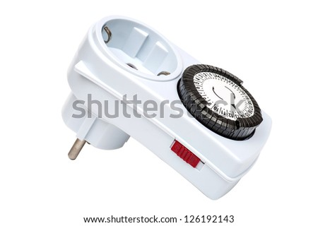 Automatic Time Switch - stock photo