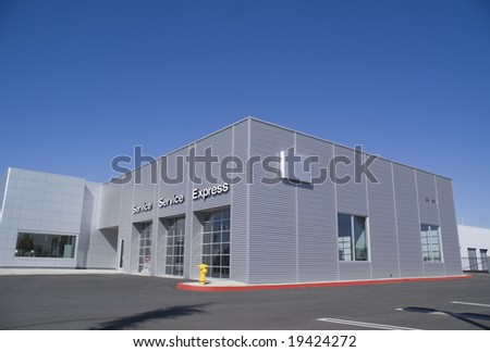 Automobile Dealership and Service Areas - stock photo