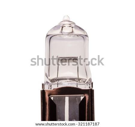 Automobile light bulb isolated on white background - stock photo