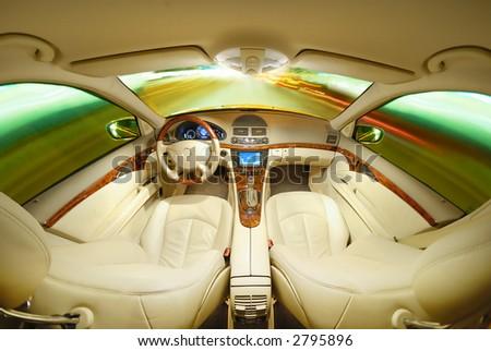 Autopilot - stock photo