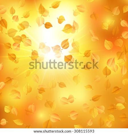 Autumn background with alder leaves. Raster version - stock photo