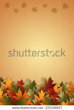 Autumn background with leaves - stock photo