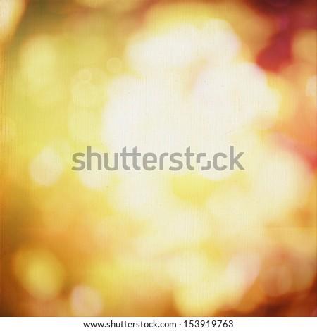 Autumn bokeh background - stock photo