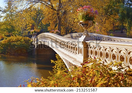 Autumn colors - Fall foliage in Central Park, Manhattan, New York City - stock photo