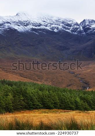 Autumn colours in Highlands, Scotland, Europe - stock photo
