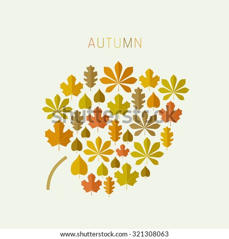Autumn concept background. Raster version. - stock photo