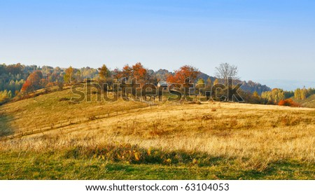 Autumn country life scenery - stock photo