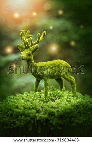 Autumn decoration in the forest - stock photo