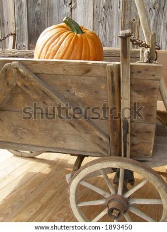 Autumn decoration on Vermont porch - stock photo