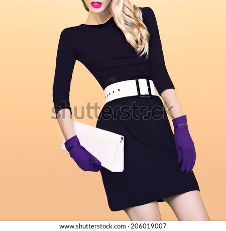 Autumn fashion girl - stock photo