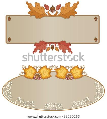 Autumn Frame Assortment  - Raster version - stock photo