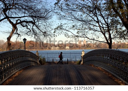 Autumn in Central Park,New York - stock photo