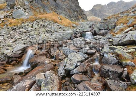 Autumn in mountains - stock photo