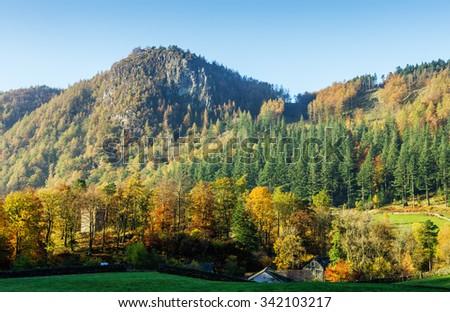 Autumn Landscape Cumbria, England - stock photo